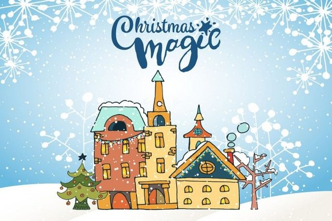 Christmas Magic Free Vector Illustration