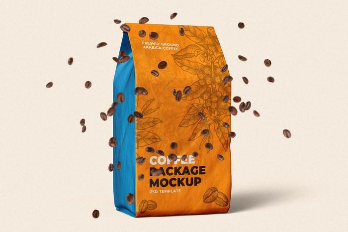 Coffee Bag Packaging Mock-Up Template