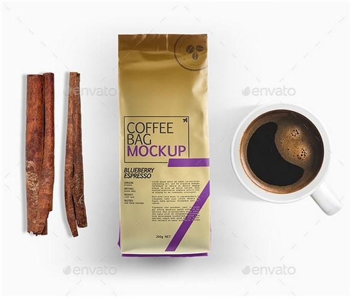 Coffee Bag Packaging Mockup