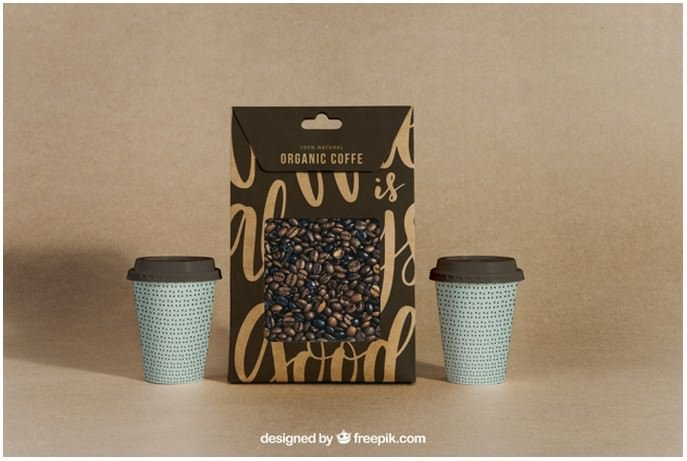 Coffee Mockup With Two Cups