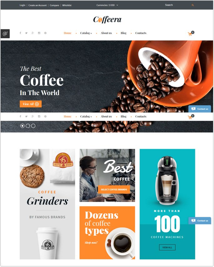 Coffeera VirtueMart Template
