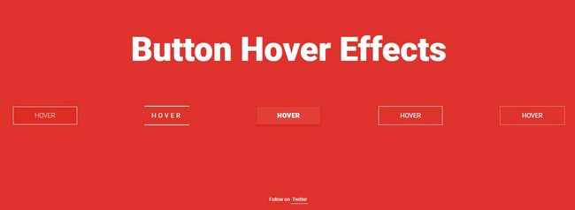 Collection of Button Hover Effects