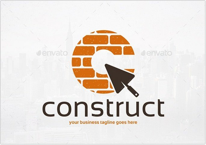 Construction Business Logo Template