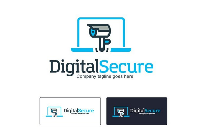 Digital Security Logo Template