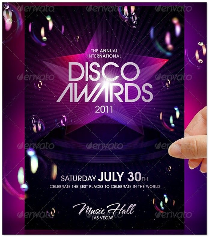 Disco Awards Party Evernt Flyer