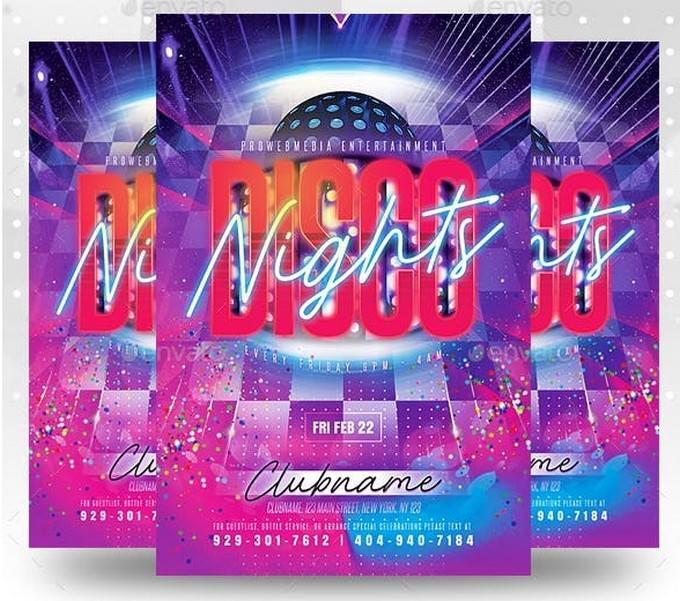 Disco Nightclub Party Flyer Template