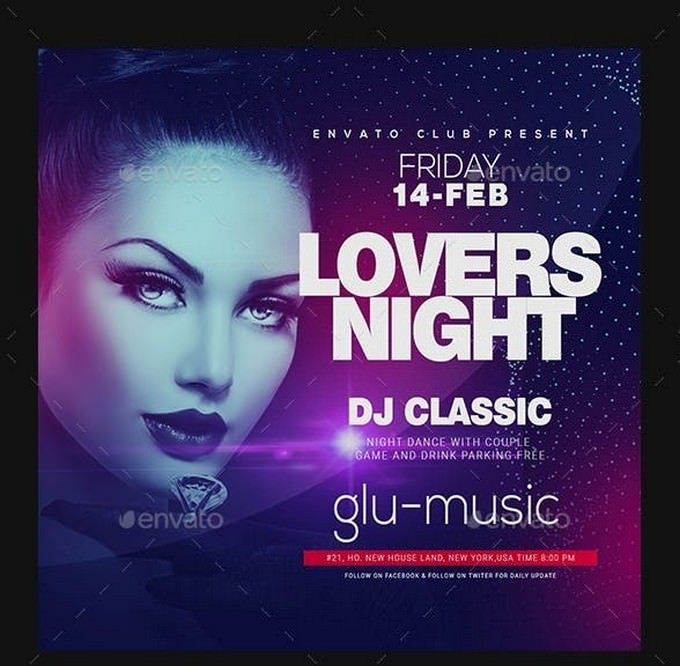 Dj Ladies Night Club Flyer