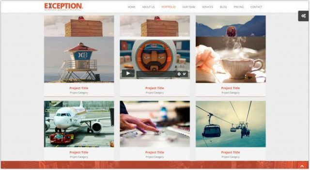 EXCEPTION - Responsive Portfolio HTML Template