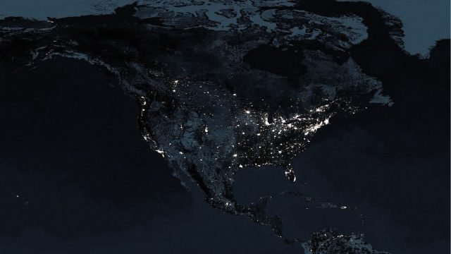 1920×1080-Night View From Space