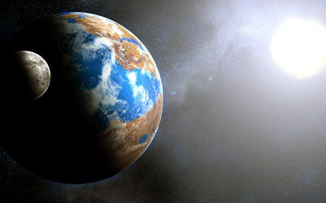 Earth Sun And Moon HD Wallpaper-2960×1850