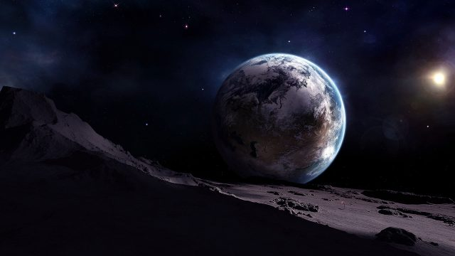 Earth View From Moon-3840×2160