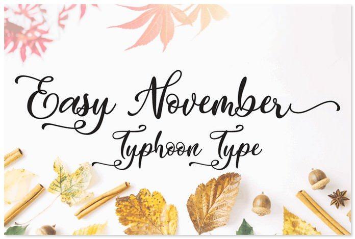 Easy November Font