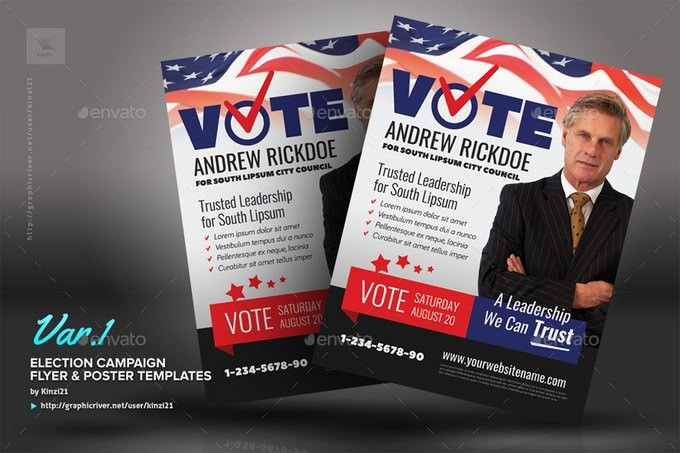 Election Campaign Flyer or Poster Template