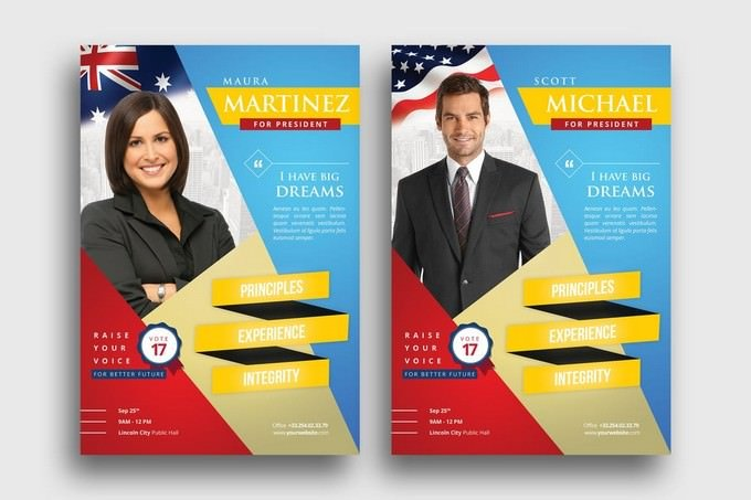 Election Campaign Flyer Templates