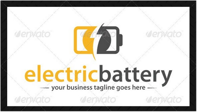 Electric Battery Logo Template