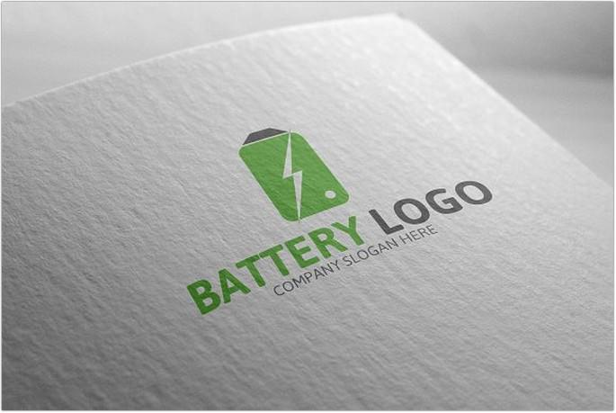 Green Electric Battery Logo