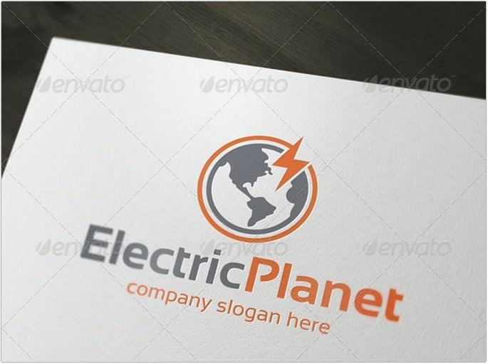 Electric Planet Logo Design