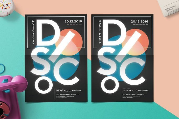 Electro Disco Flyer Template