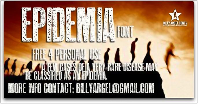 Epidemia Font