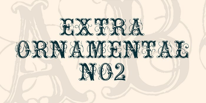 Extra Ornamental No2 Font