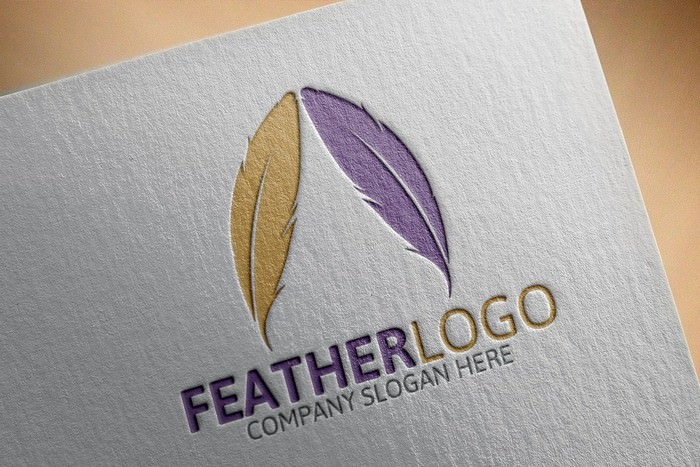 Feather Logo PSD