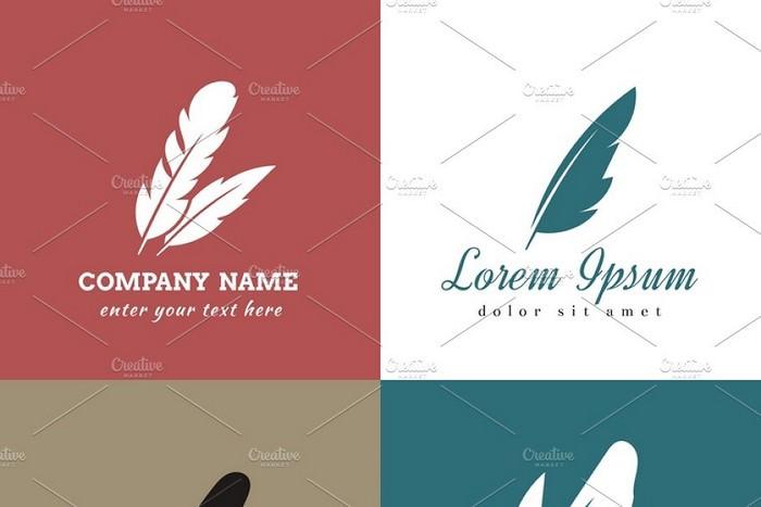 Feather Vector Logo Templates