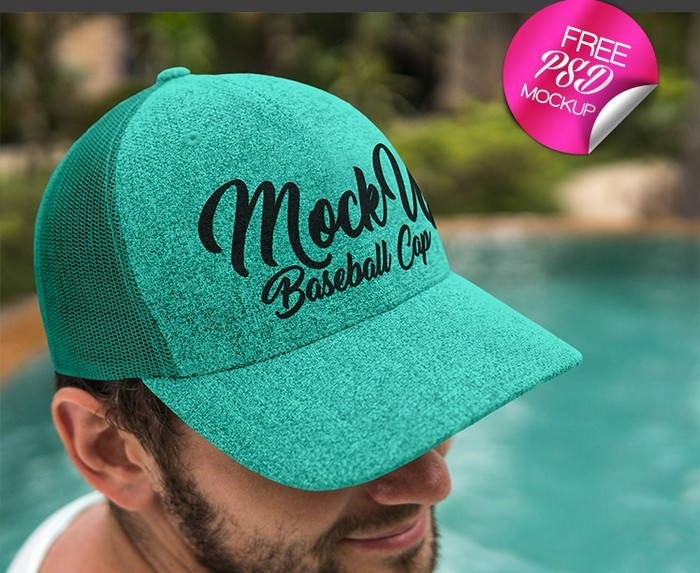 Fee Baseball Cap V02 Mock-up In PSD