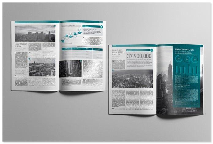 Financial Booklet Mockup