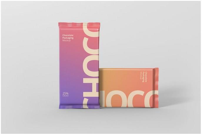 Foil Chocolate Packaging Mockup