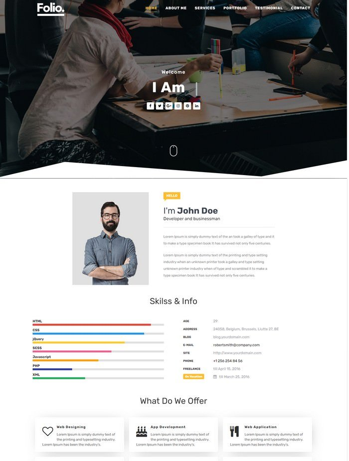 Folio Blogger Template