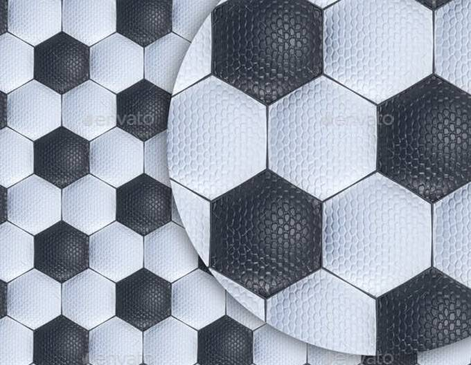 Football Ball Quilted Leather Texture