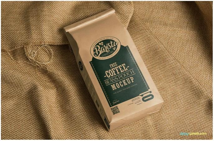 Free Classic Coffee Bag Mockup