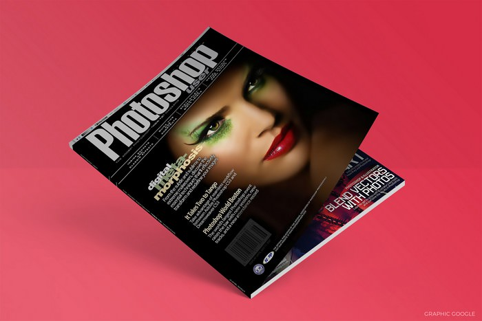 Flat Magazine Mock-up PSD