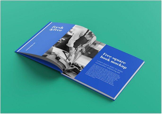 Free Hardcover Magazine Mockup PSD Set