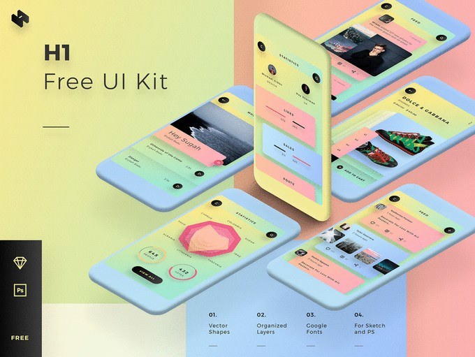 Free Mobile UI Kit