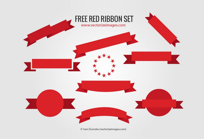 Free Red Ribbon Set