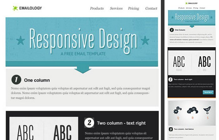 Free Responsive Email Template - Part I