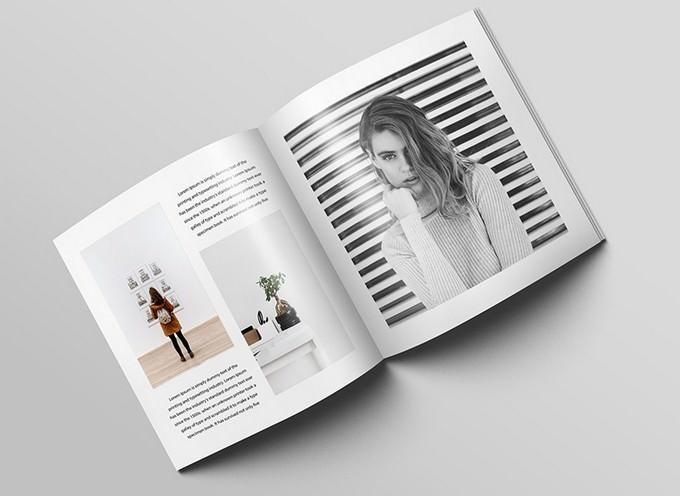 Free Square Magazine Brochure Mockup