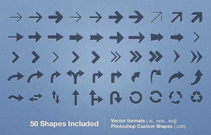 Free Vector Arrows Set – Vol 1