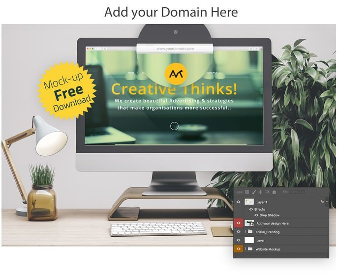 Free Web Browser Mockup Set PSD