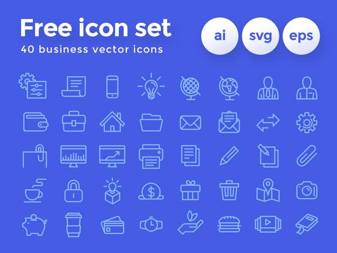 Freebie Business Icon Set