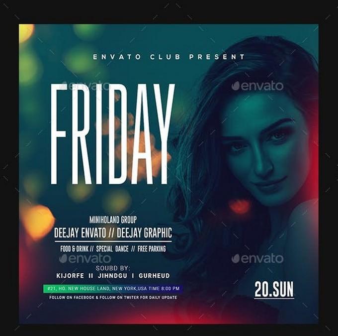 Friday Ladies Night Club Flyer