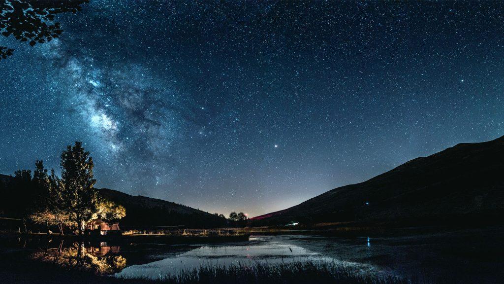 Galaxy Lake HD Wall 1920 × 1080