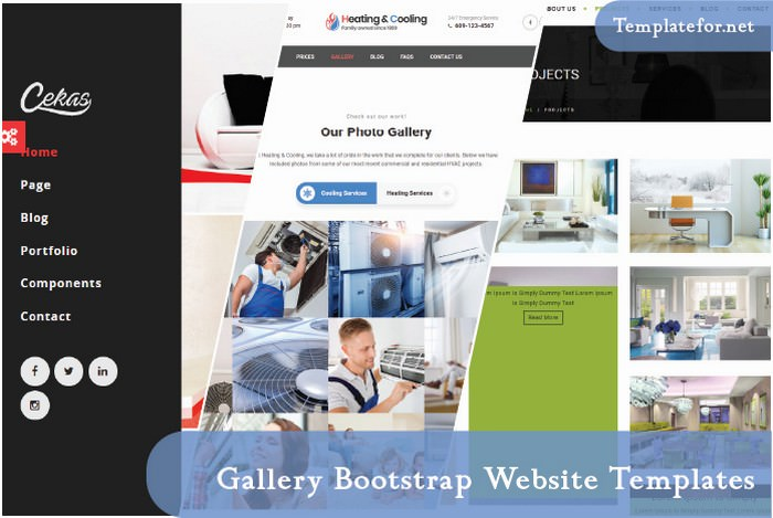Gallery Bootstrap Website Template