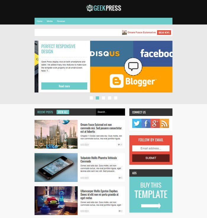 Geek Press – Responsive News & Magazine Template