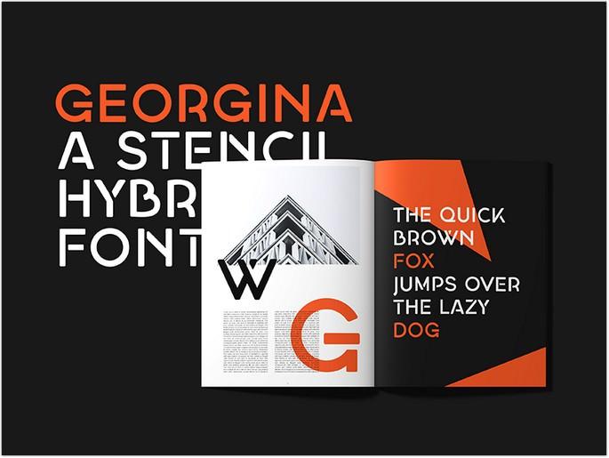 A Free Stencil Hybrid Font
