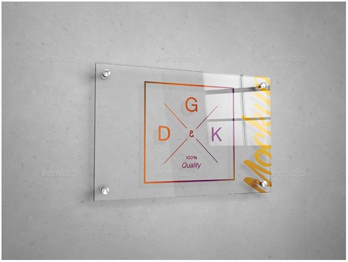 Glass Signage Poster Mockup