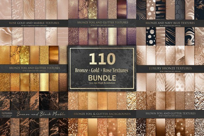Gold and Bronze Foil Bundle
