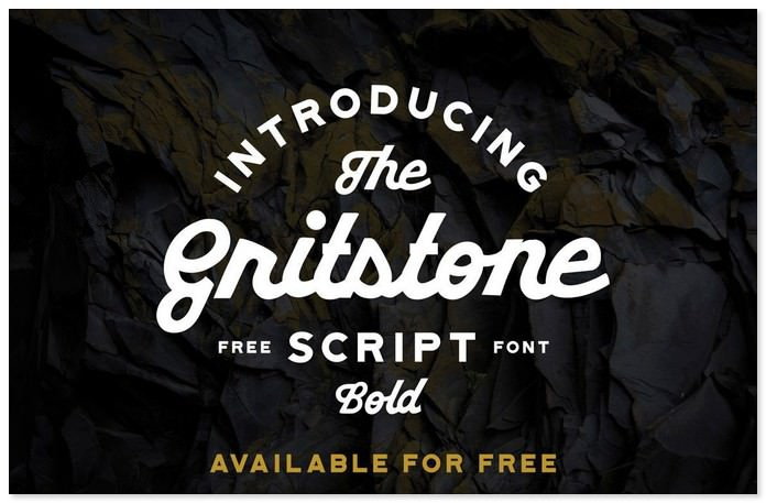 Gritstone Free Script Font