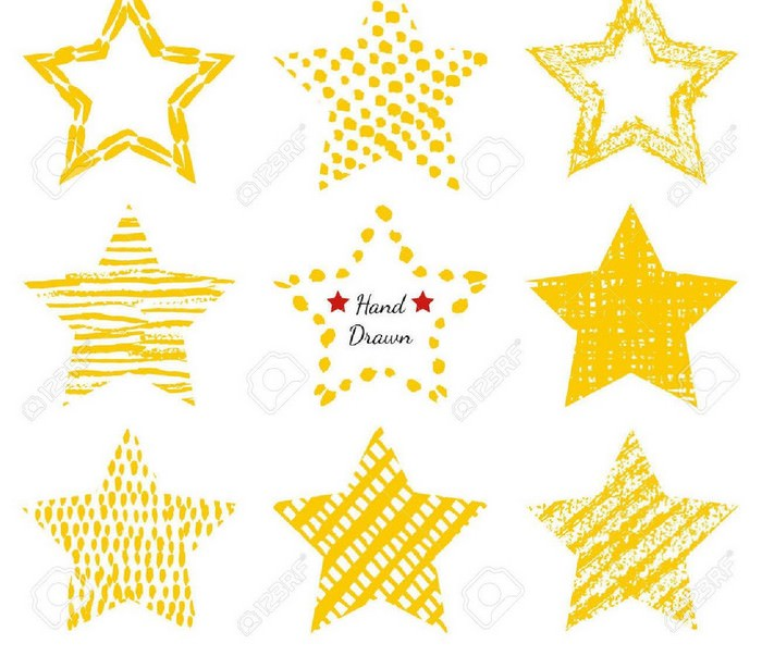 Hand-Drawn Textures Star Shapes